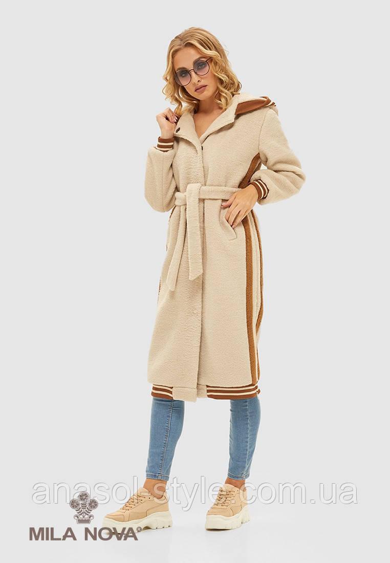 Пальто женское кашемировое бежевое тренд 2019