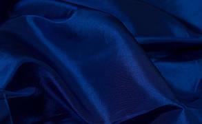 Ткань атлас Электрик, глубокий синий, фото 2