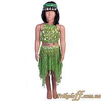 """Детский костюм """"Восточная красавица"""", зеленый"""