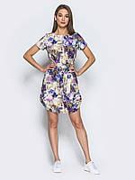 Модное женское  платье из льна play L 48 бежевого цвета UAJJ520_7