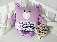 Мишка подушка с вышивкой