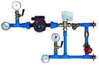 Монтаж смешивающего узла для водной системы