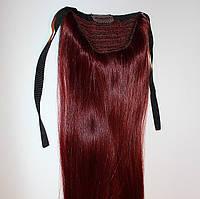 Натуральный накладной хвост из славянских волос. Оттенок №99. Длина 55 см.