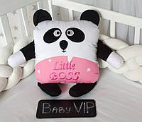 Игрушка панда с вышивкой