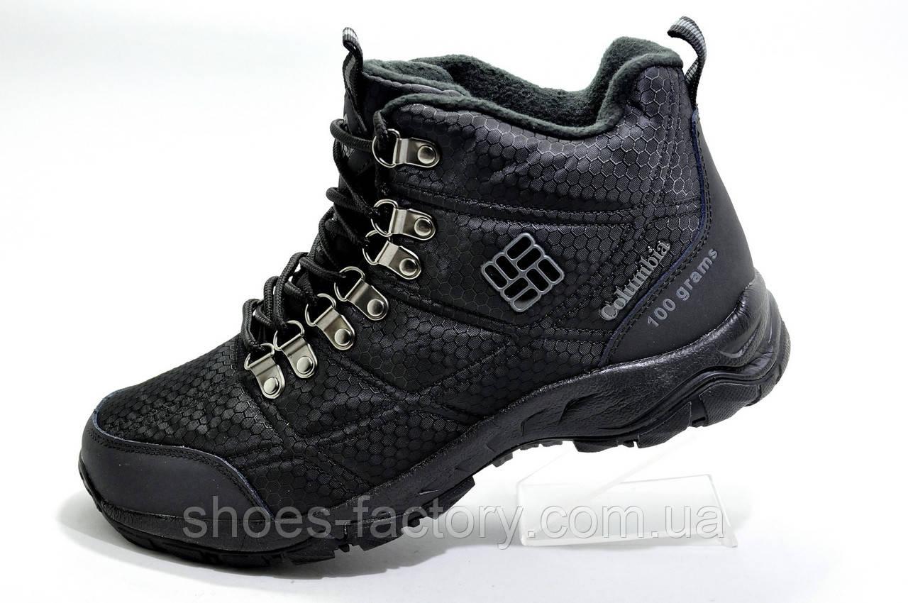 Зимние Термо кроссовки в стиле Коламбия Firecamp Boot, Black