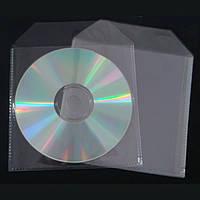 Конверт пластиковый для 1CD прозрачный
