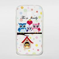 Чехол силиконовый для Samsung Galaxy Ace 2 I8160 Owls
