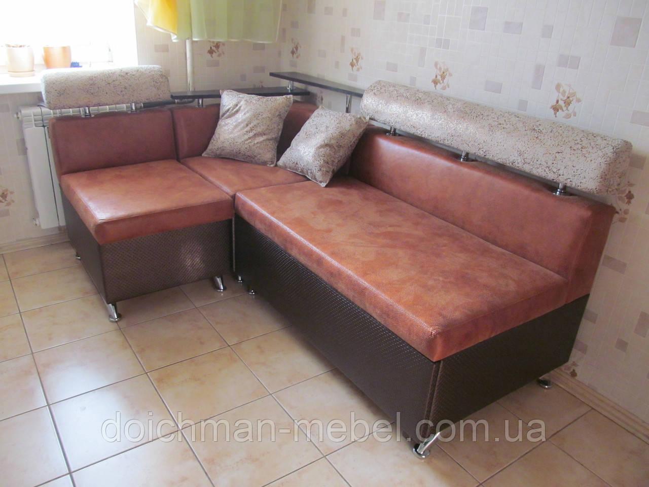 Кухонный диван с полками раскладной на заказ