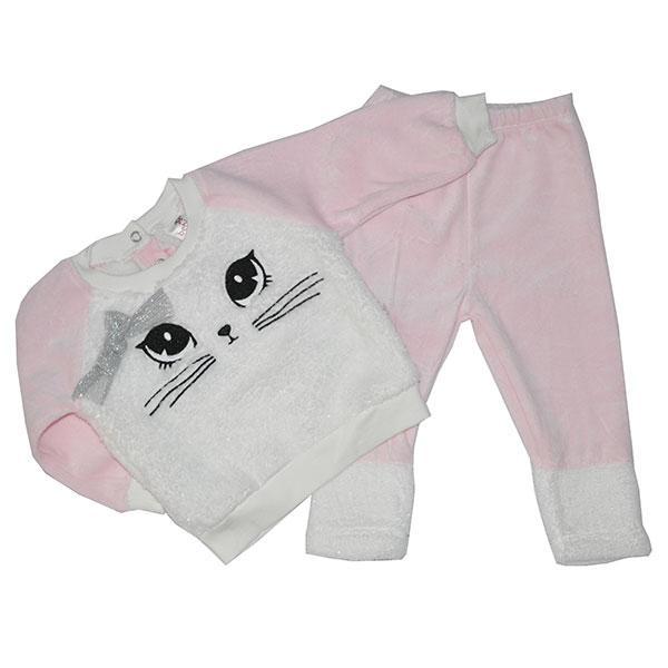 Детский велюр -травка костюм для девочек ,от 6-18 мес. (3 ед в уп) розовый