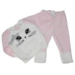 Детский велюр -травка костюм для девочек ,от 6-18 мес. (3 ед в уп)