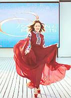 Наталка Карпа. Сукня вишита з шифону.