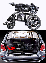 Складная электроколяска D-6024 (Li-ion). Инвалидная коляска. Кресло для инвалида. Кресло коляска., фото 3