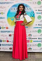 Габрієлла Массанга. Сукня з вишивкою.