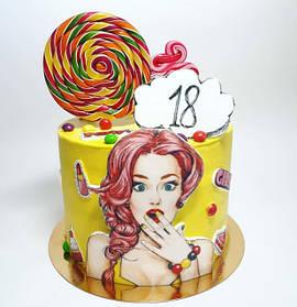 Вафельные картинки на торт формат А515*21 см (пол листа) разные