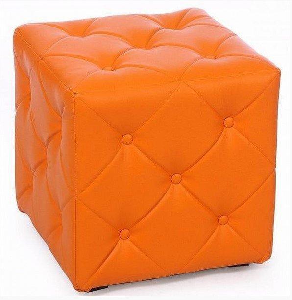 Пуф Ромби-1 Оранжевый,пуфик,пуфики,пуф кожзам,пуф экокожа,банкетка,банкетки,пуф куб,пуф фото