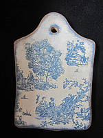 Доска разделочная из дерева в технике декупаж, 22х13,5 см, 80/70 (цена за 1 шт. + 10 гр.), фото 1