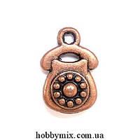 """Метал. подвеска """"телефон"""" медь (1х1,5 см) 5 шт в уп."""