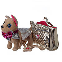 Мягкая собачка Чичилав 5489 с модной сумочкой: 22см, звук