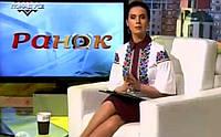 """Яніна Соколова- ведуча """"5 каналу"""" Костюм з вишитою блузою, фото 1"""