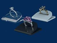 Подставка для кольца универсальная, акрил прозрачный 3мм