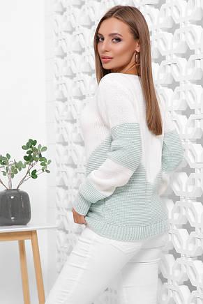 Женский модный двухцветный свитер (3 рпсцветки), фото 3