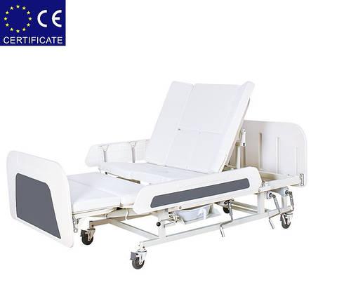 Медицинская кровать с туалетом Е55. Функциональная кровать. Кровать для реабилитации., фото 2