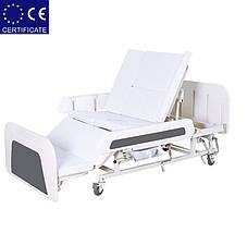 Медицинская кровать с туалетом Е55. Функциональная кровать. Кровать для реабилитации., фото 3