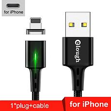 Elough E-Star 3A магнитный кабель Lightning для iPhone. Быстрая зарядка Qualcomm Quick Charge 3.0 Blue, фото 2