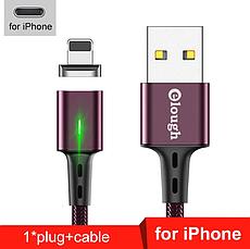 Elough E-Star 3A магнітний кабель Lightning для iPhone. Швидка зарядка Qualcomm Quick Charge 3.0 Galaxy Grey, фото 2