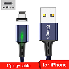 Elough E-Star 3A магнітний кабель Lightning для iPhone. Швидка зарядка Qualcomm Quick Charge 3.0 Galaxy Grey, фото 3