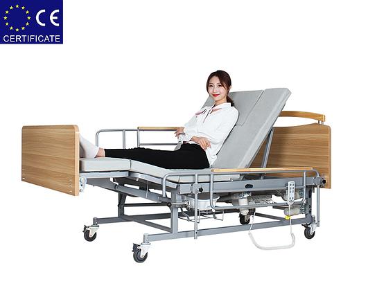 Медицинская электро кровать с туалетом  Е04. Функциональная кровать для инвалида. Современный дизайн, фото 2