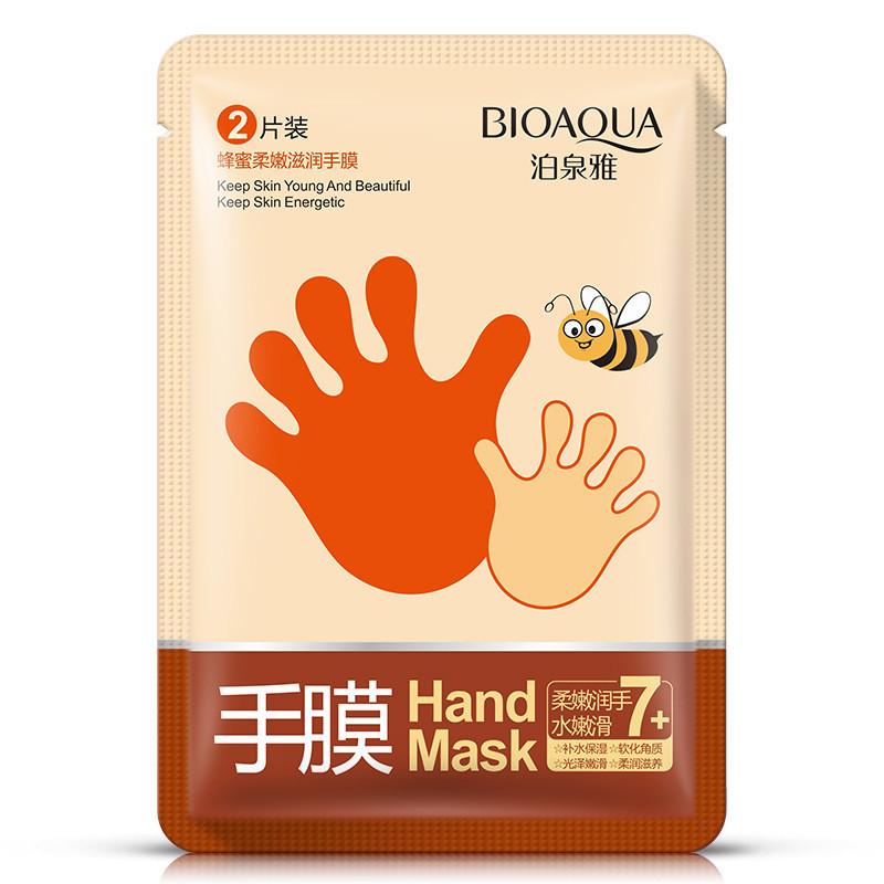 Маска - перчатки для рук увлажняющая с медом Bioaqua Hand Mask (35г/1пара)