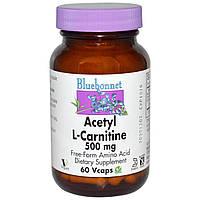 Ацетил-L-карнитин Bluebonnet Nutrition 500 мг 60 капсул