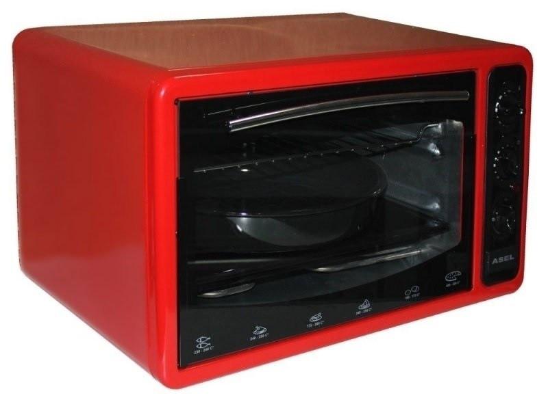Духовка электрическая Asel АF_40-23_(0123) красная, 40 л.