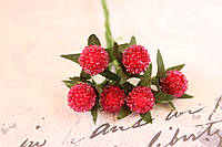 Декоративные ягоды земляники 6 шт/уп. красного цвета