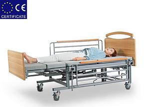Медицинская кровать с туалетом Е08. Функциональная кровать. Кровать для инвалида. Современный дизайн., фото 3