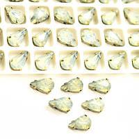 Стразы в цапах капля 10*6 мм, опал (смола)