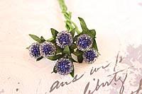 Декоративные ягоды земляники 6 шт/уп. синего цвета, фото 1