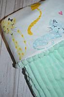 Детский плюшевый плед, в кроватку и коляску разноцветные котята