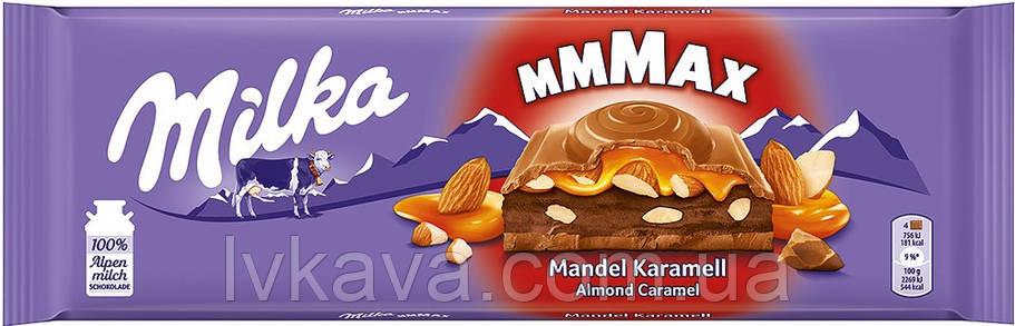 Молочный шоколад Milka Almond Caramel , 300 гр, фото 2
