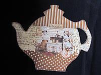 Картина в форме чайничка в технике декупаж, 35х29см, 150\130, фото 1