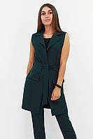 S, M, L, XL / Жіночий подовжений костюм Endru, темно-зелений