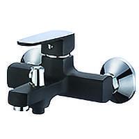 Смеситель для ванны с душем MIXXUS Missouri BUTTON Black(CHR-009 EURO)