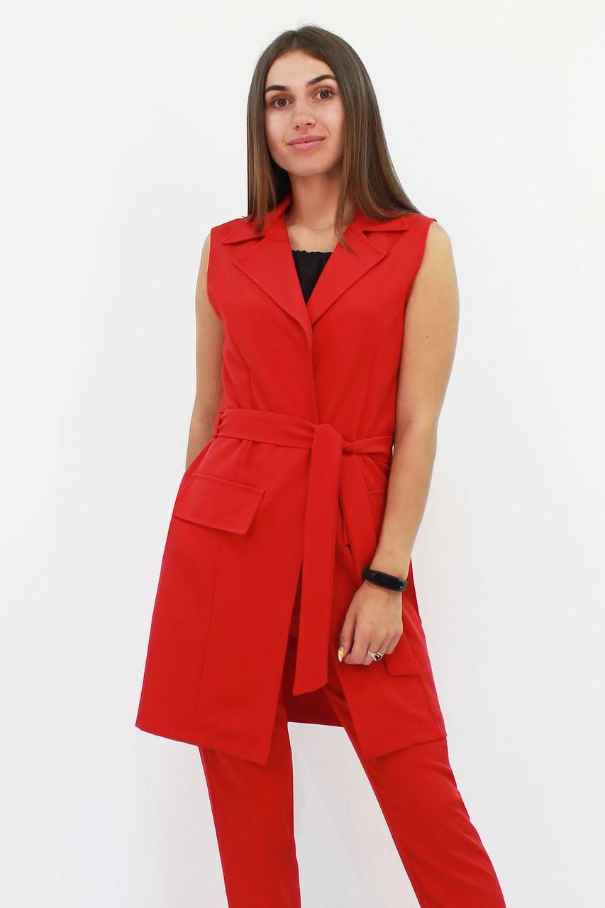 S, M, L, XL | Жіночий подовжений костюм Endru, червоний