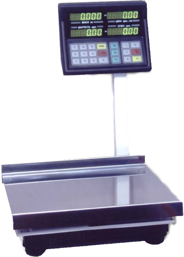 Электронные весы со стойкой для магазина