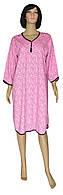 Ночная рубашка женская теплая больших размеров 18086 Pretty Soft розовая, р.р.52-66