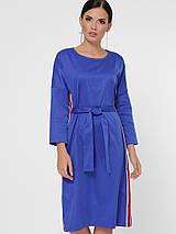 Женское однотонное платье с лампасами (Elison fup), фото 3