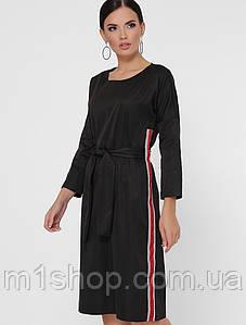 Женское однотонное платье с лампасами (Elison fup)