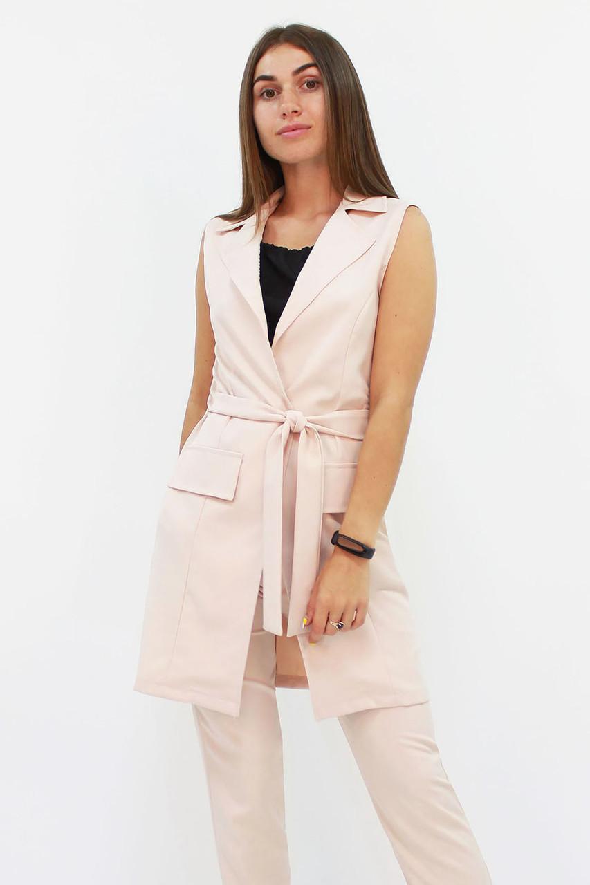 S, M, L, XL / Жіночий подовжений костюм Endru, бежевий