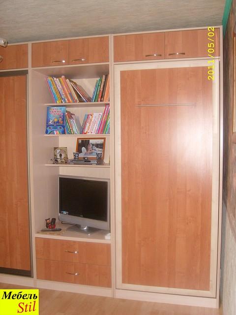 Односпальная шкаф-кровать трансформер, фото 1